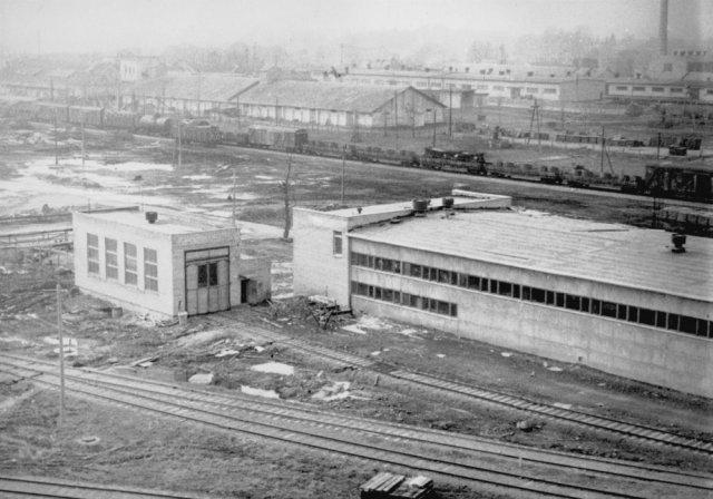 Kupiškio geležinkelio stoties rajonas. Apie 1970 m.