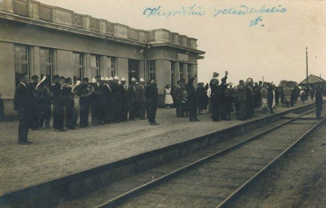 Kupiškio geležinkelio stotyje. Iki 1940 m.