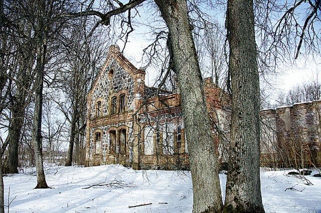 Skrebiškių dvaras. Vieta, kurioje buvo rasti sukilėlių vadai Z. Sierakauskas ir B. Kolyška.