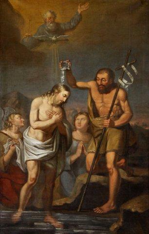 Eliziejus Liutkevičius. Jėzaus Krikštas. 1863. kart., al. Pasvalio Šv. Jono Krikštytojo bažnyčia.