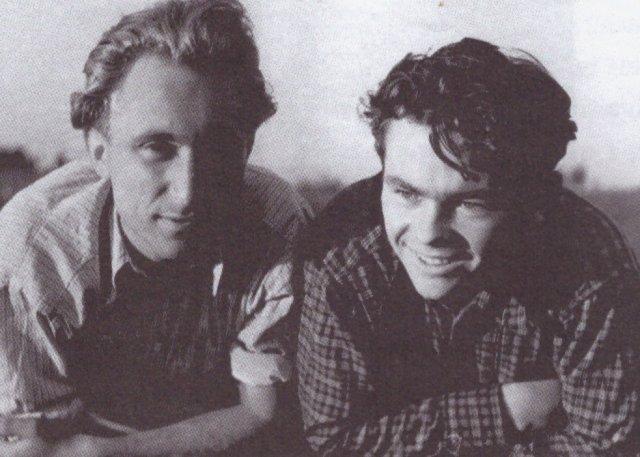 Po pasitarimo steigti slaptą studentų istorikų draugiją. Mečislovas Jučas ir Vytautas Merkys (dešinėje), 1948 m.