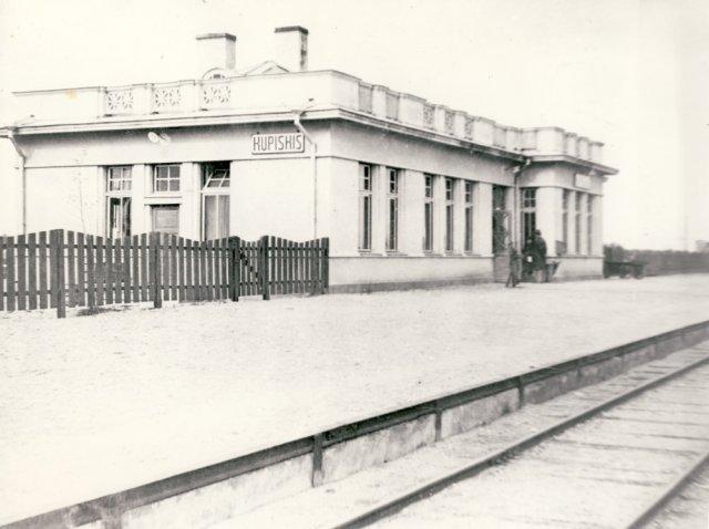 Kupiškio geležinkelio stoties rūmai. Po 1931 m.