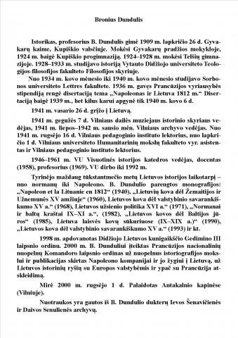 Broniaus Dundulio biografija