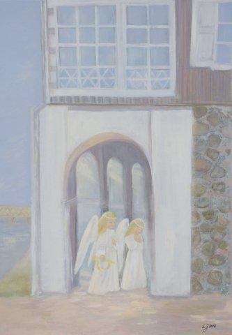 "Autorė tautodailininkė Lialachan Jegorova ""Adomynė po angelo sparnais"", 2016 m."