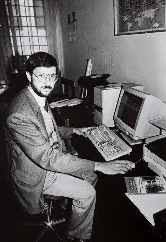 Liudas Mažylis Kauno miesto savivaldybės atstovas spaudai. 1996 m.