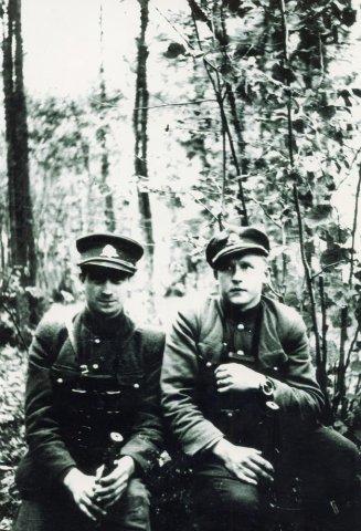 Algimanto apygardos Vytenio būrio partizanai. (Iš S. Bagdonavičiaus albumo).