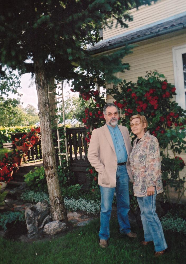 Adomo Petrausko dukra Ona Karpienė su vyru Vidmantu Karpiu. GEK 2166