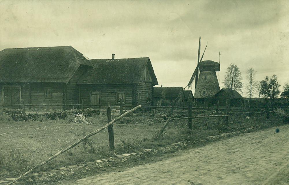 Senieji Kupiškio pastatai ir malūnas 1922 KEM