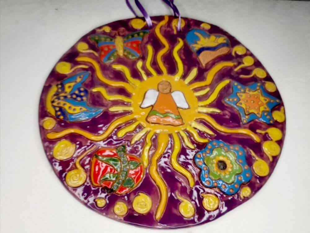"""Angelas"". Keramika: molis, glazūra. Dydis 29 cm. Jurgita Čiplytė 2017 m."