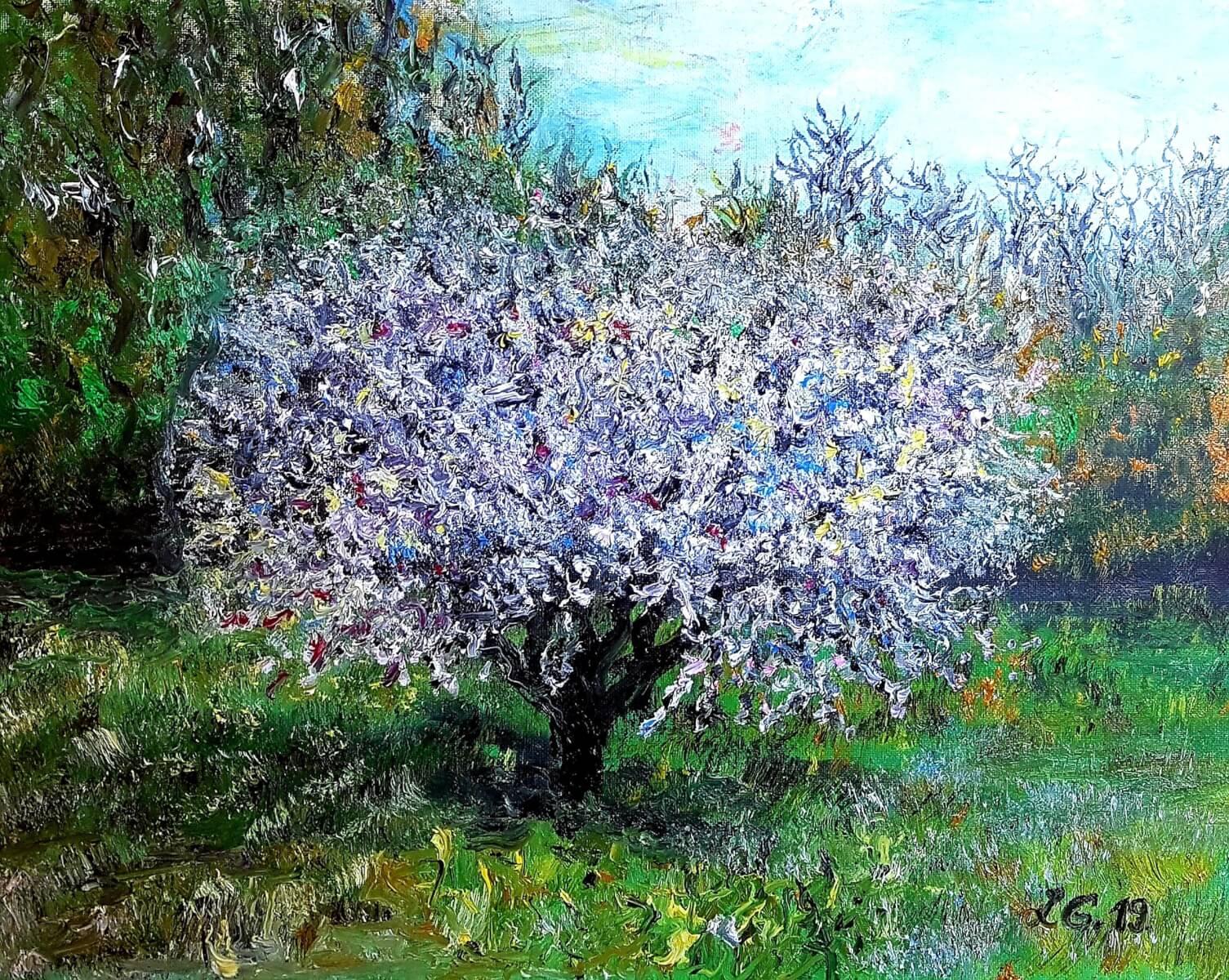 ,,Pavasaris''. Drobė – aliejus, 50-40 cm. 2019 m.