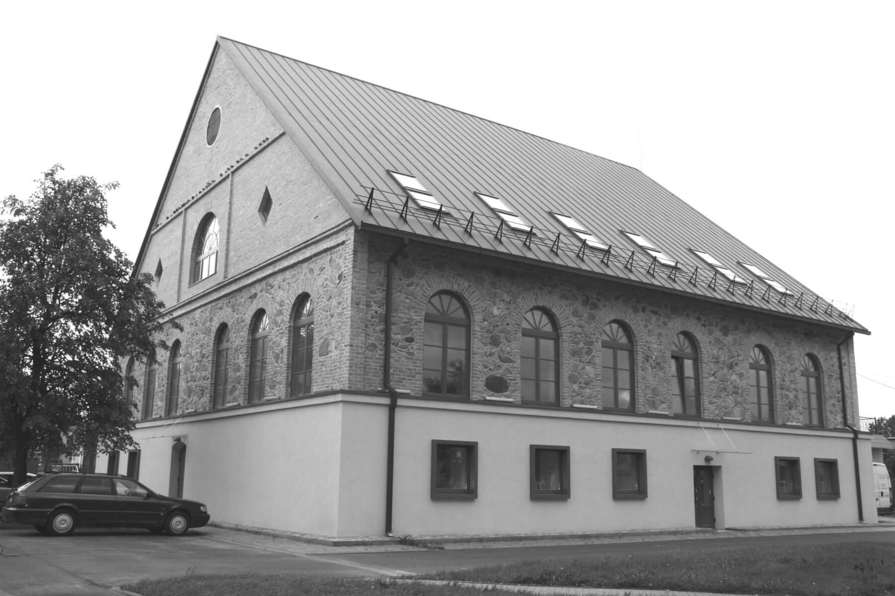 Rekonstruota Kupiškio rajono savivaldybės viešoji biblioteka. (Buvusi Didžioji Kupiškio sinagoga) 2021 m.