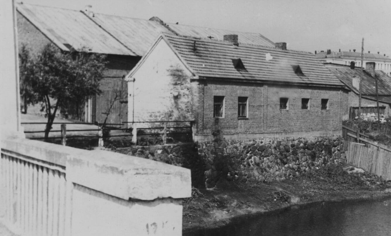 Buvęs Kupiškio kalėjimas statytas XX a. pradžioje. Apie 1970 m.