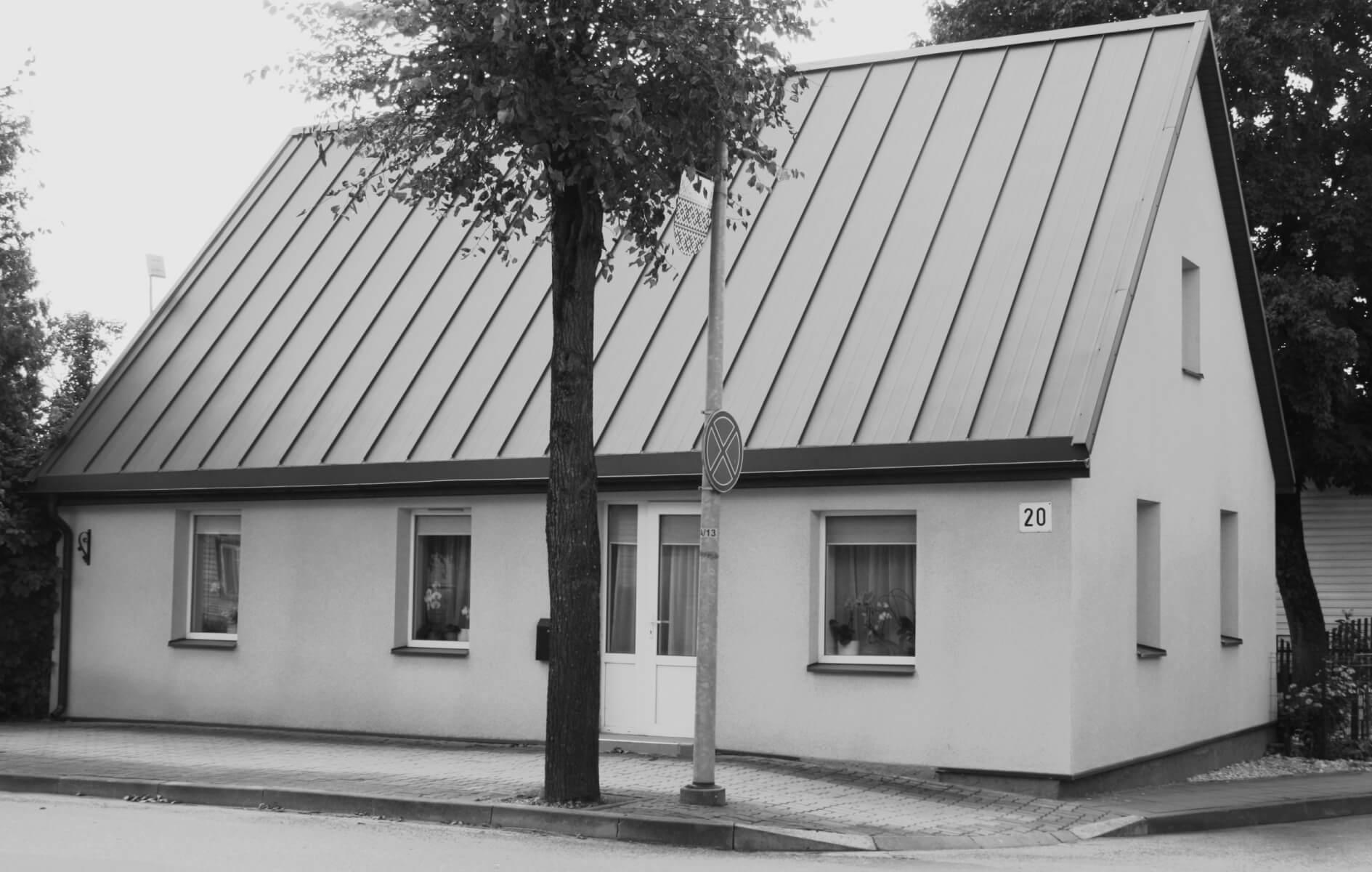 Rekonstruotas fotografo Juozo Karazijos namas. 2021 m.