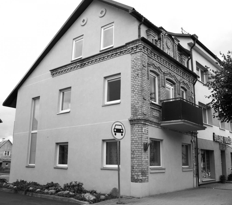 Rekonstruotas buvęs Nochemo Šmidto namas. 2021 m.