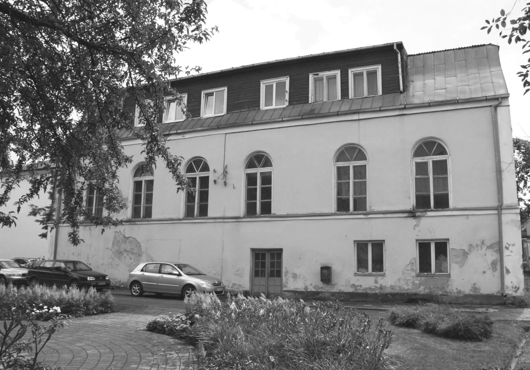 Kupiškio rajono savivaldybės viešoji biblioteka. (Buvusi Didžioji Kupiškio sinagoga statyta baroko epochoje). 2016 m.