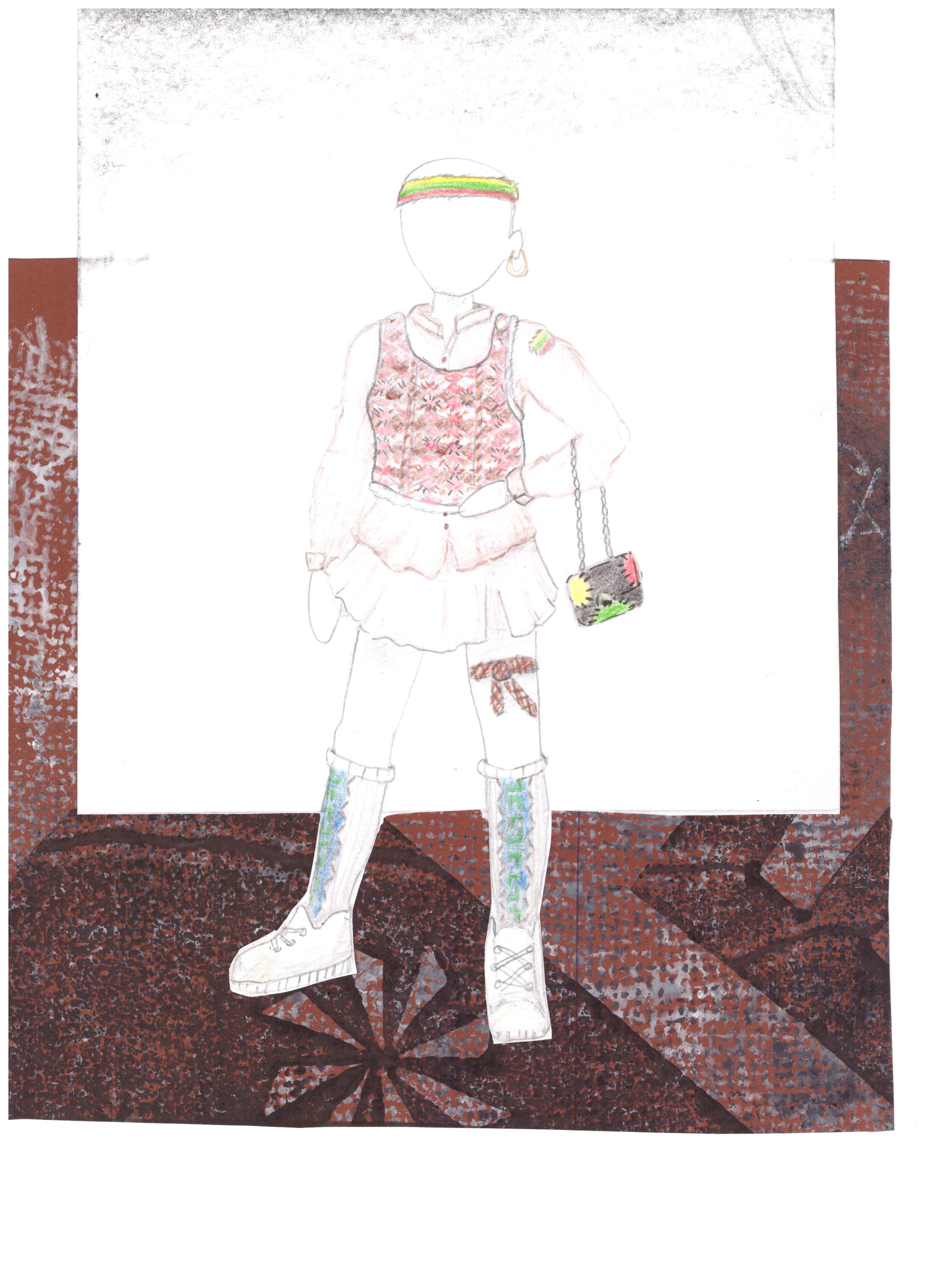 Danielė Čiučelytė. 13 m. Šiuolaikinis kostiumas. Rokiškio r. Pandėlio gimnazija. (Mok. Aušra Viduolienė)