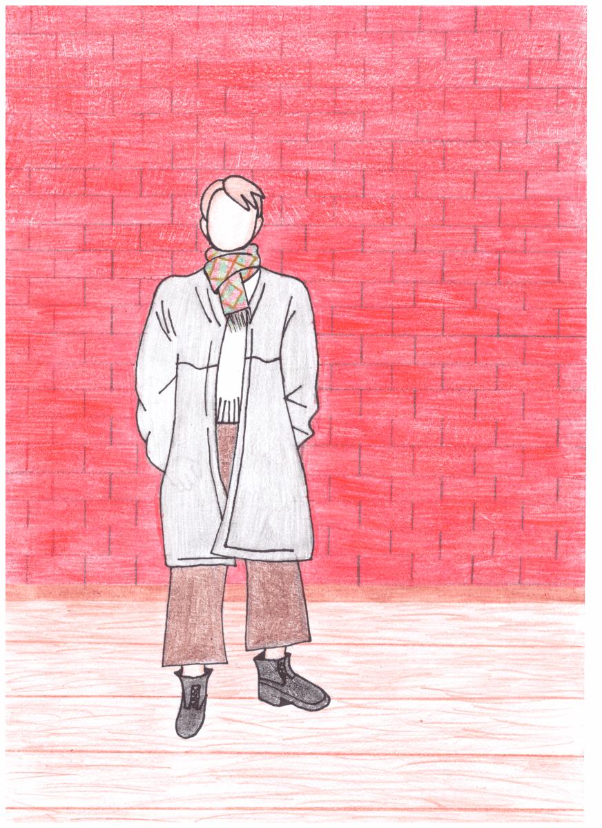 Gintarė Pekoriūtė. 14 m. Šiuolaikinio tautinio kostiumo eskizas. Kupiškio Povilo Matulionio progimnazija. (Mok. Lina Riaubienė)