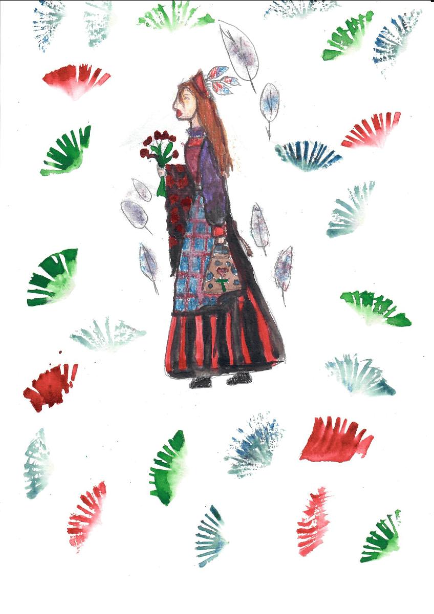 Goda Lukšaitė. 11 m. Rudens apranga. Biržų Vlado Jakubėno muzikos mokykla. (Mok. Gražina Visockienė)
